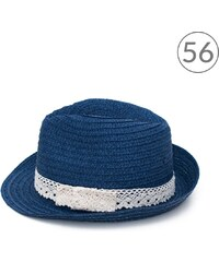 Art of Polo Trilby klobouk s krajkou modrý