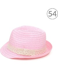 Art of Polo Trilby klobouk s krajkou světle růžový