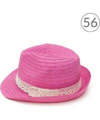 Art of Polo Trilby klobouk s krajkou růžový