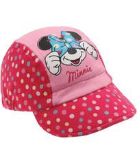 Disney Dívčí kšiltovka Minnie s puntíkami - růžová