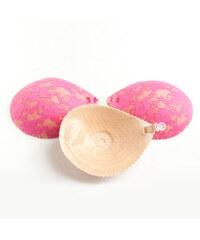 Lesara Bügelloser BH mit Spitze zum Aufkleben - Pink - A