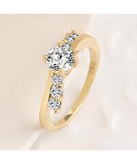 Lesara Damen-Ring mit Zirkonia-Steinen - Gold - 59