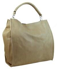 Velká taška na rameno New Berry 9010 písková hnědá