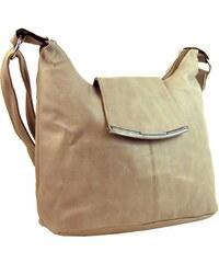Sun-bags Elegantní crossbody kabelka se sponou H0376 meruňková hnědá