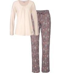 MARIE CLAIRE Pyjama mit Apricot Paisleymuster