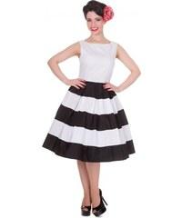 Retro šaty Dolly and Dotty Anna Stripe ČERNO-BÍLÉ velikosti: 36