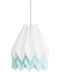 Orikomi Abat-jour Blanc Polaire avec Bande Bleue Clair