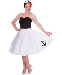 Retro šaty Dolly and Dotty MELISSA ČERNO-BÍLÉ velikosti: 36
