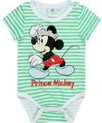 Disney Chlapecké body Mickey Mouse pruhované - zeleno-bílé