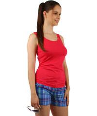 TopMode Bavlněné šortky s barevnými proužky modrá