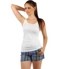 TopMode Bavlněné šortky s barevnými proužky zelená