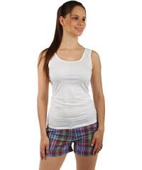TopMode Bavlněné šortky s barevnými proužky hnědá