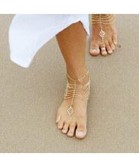 Lesara 2er-Set Fußkette mit orientalischem Schmuckelement