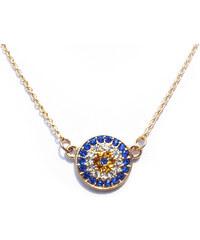 Lesara Halskette mit bunten Strass-Steinen - Blau