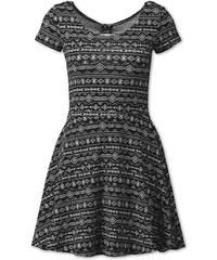 C&A Kleid mit Print in Schwarz / weiß