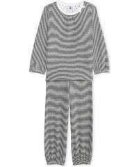 Petit Bateau Ensemble chemise et pantalon - gris