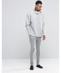 ASOS Loungewear - Pantalon de jogging super skinny - Gris chiné - Gris