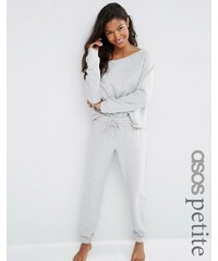 ASOS PETITE LOUNGE - Pantalon de survêtement en jersey chiné - Gris