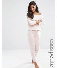 ASOS PETITE LOUNGE - Pantalon de survêtement en jersey chiné - Rose