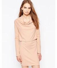 Daisy Street - Kleid in doppelter Lage - Beige