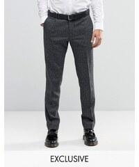 Noak - Pantalon élégant super skinny à chevrons - Gris