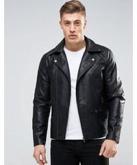 Produkt - Blouson motard classique imitation cuir - Noir