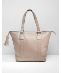 Ruby Rocks - Shopper-Tasche aus Leder - Beige