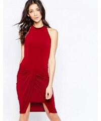 Wal G - Kleid mit gerafftem Rockteil - Rot