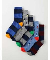 Socken im 5er-Pack Gestreift Jungen Boden