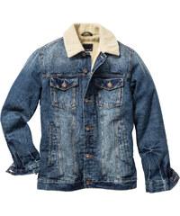 RAINBOW Blouson en jean thermo Slim Fit bleu manches longues homme - bonprix