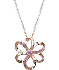 Lesara Rosévergoldete Blumen-Halskette - Violett