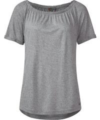 Street One Kurzarm-Carmenshirt Finola - ghost grey melange, Damen