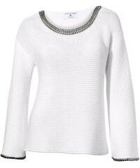 RICK CARDONA Damen Oversized-Pullover weiß 34,36,38,40,42,44,46