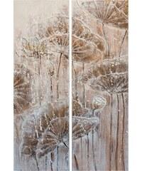 Bilder-Set Florales (2 tlg.) 80/120 cm HOME AFFAIRE braun