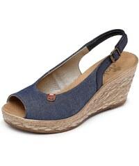 Große Größen: Rieker Sandalette, blau, Gr.38-42