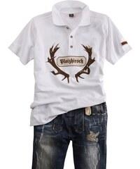 Trachten-Poloshirt mit auffälligem Print OS-TRACHTEN weiß L (48/50),M (44/46),S (40/42),XL (52/54),XXL (56/58)