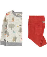 Catimini Bedrucktes Sweatshirt und Boy-Hose Slim Fit