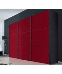 Baur Express Solutions Schwebetürenschrank graphit-Rotglas satiniert