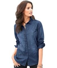 CLASSIC INSPIRATIONEN Damen Classic Inspirationen Jeansbluse in modischer Waschung blau 36,38,40,42,44,46,48,50,52,54