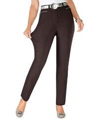 Damen Hose in hochwertiger Thermo-Bengalin-Qualität STEHMANN braun 36,38,40,42,44,46,48,50,52,54