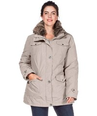 Damen Casual Outdoorjacke mit Fellimitatkragen SHEEGO CASUAL grau 40,42,44,46,48,50,52,54