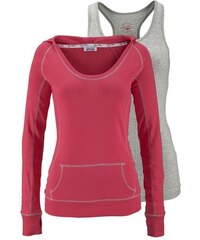 Damen 2-in-1-Shirt (Set 2 tlg. mit Top) KangaROOS rot 32/34 (XS),36/38 (S),40/42 (M),48/50 (XL)