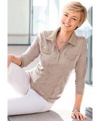 COLLECTION L. Damen Collection L. Poloshirt aus zertifizierter Bio-Baumwolle grau 36,38,40,42,44,46,48,50,52,54