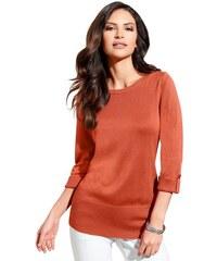 Damen Classic Inspirationen Pullover mit Umschlag und Riegel am Ärmel CLASSIC INSPIRATIONEN orange 36,38,40,42,44,46,48,50,52,54