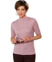 COLLECTION L. Damen Collection L. Pullover mit Strickmuster rosa 38,40,42,44,46,48,50,52,54