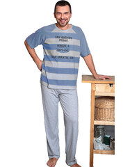 Regina Pruhované pánské pyžamo Prison