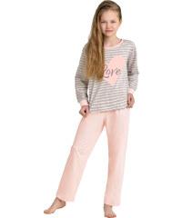 Taro Dívčí pyžamo Lisa meruňkové