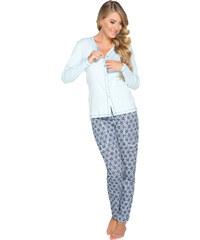 Italian Fashion Dámské pyžamo Hortenzie modré