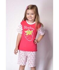 Taro Bavlněné dětské pyžamo Strawberry