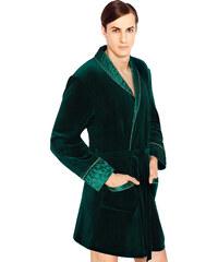 Wanmar Luxusní pánský župan Bonjour temně zelený